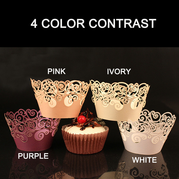 Wholesale-30pcs Laser Cut Clouds Design Cupcake Wrappers Muffin Cup Cake Gift Box Wedding Party Favor Baby Shower Decor