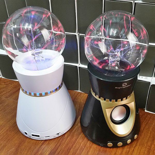 Electrostatic magic ball Glass magic ball cool ion bluetooth speaker usb card stereo radio