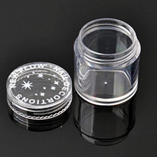 Al por mayor-10pcs Botellas recargables Plástico Redondo Transparente Transparente Almacenamiento Vacío Jar Pot Pot Container