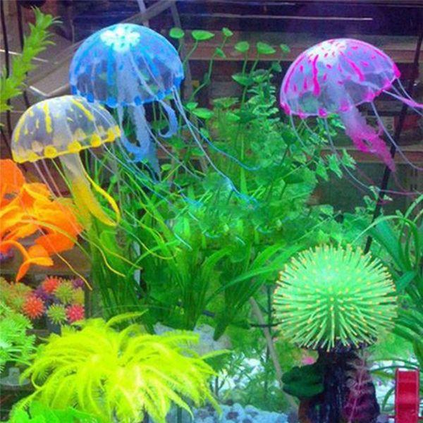 Ornamento di acquario di ornamento di meduse fluorescente effetto fluorescente di bellezza
