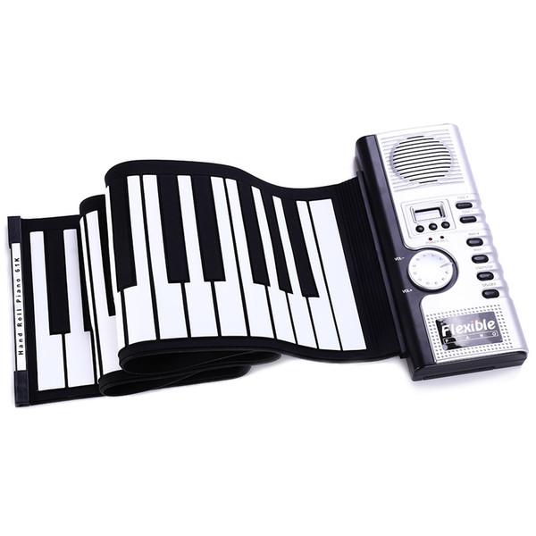Tragbare 61 Verdickungsschlüssel Flexible Elektronische Roll Up Klavier MIDI Soft Keyboard Klavier Silikon gummitastatur Hohe Qualität + NB
