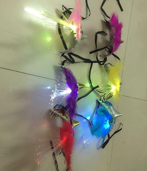 Bar luminous feather masks Masquerade Mask Halloween Mask children's toys wholesale flea market