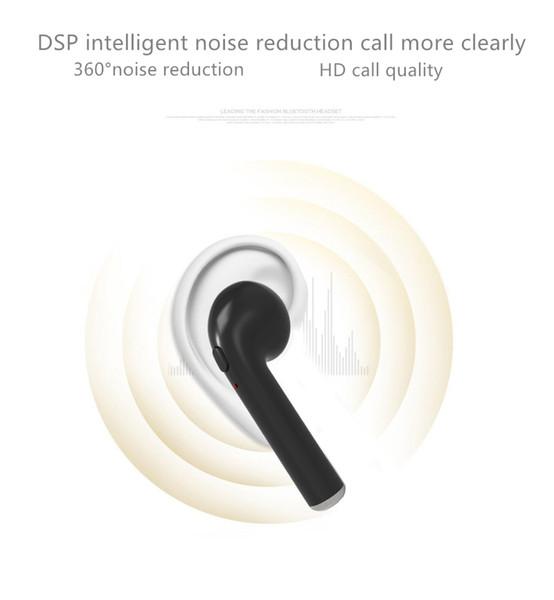 HBQ i7 TWS Auricolare Bluetooth Mini Auricolare senza fili Auricolare in-Ear Auricolare Sport Auricolare per iPhone 7 7 plus HBQ i7