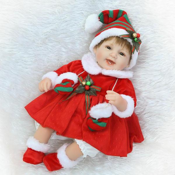 Geri dönüşüm Bebek Oyuncak Hediye 16 Inç Noel Hediyesi Bebek Bebek Reborn Gerçekçi Vinil Kız Silikon Hızlı Teslimat