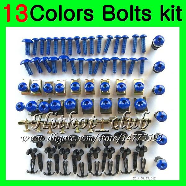 Fairing bolts full screw kit For KAWASAKI NINJA ZX7R 00 01 03 ZX-7R ZX750 ZX 7R 2000 2001 2002 2003 Body Nuts screws nut bolt kit 13Colors