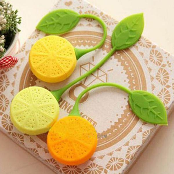 best selling Tea Strainer Silicone Lemon Design Loose Tea Leaf Strainer Herbal Spice Infuser Filter Tea Coffee Infuser Tools