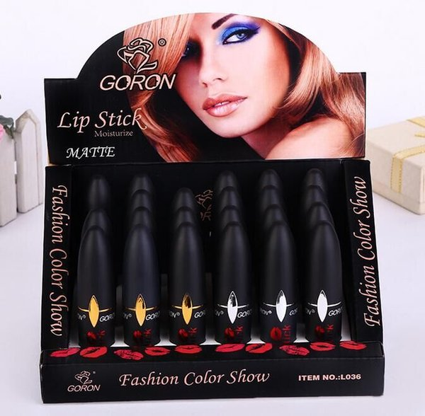 Bullet lip stick New arrival Black tube waterproof lipstick long lasting moisturizer lip gloss good selling
