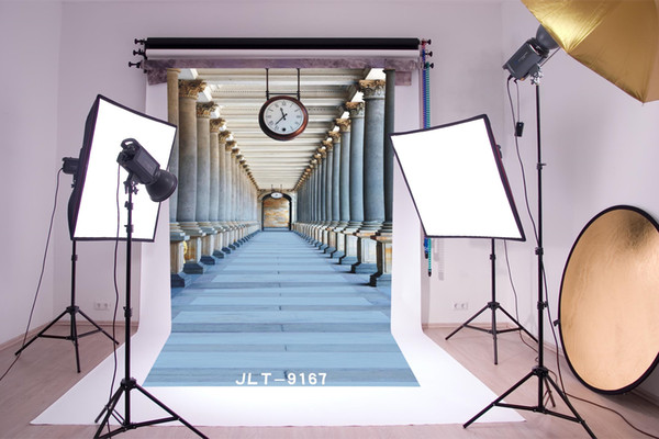 outdoor gallery hanging clock photography backdrops vinyl cloth backgrounds photocall for wedding children baby newborn for photo studio