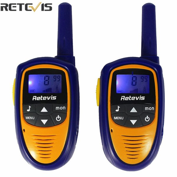 Wholesale- 2 pcs Mini Retevis Walkie Talkie Kids Toy RT31 8CH 0.5W UHF 446.00625-446.09375Mhz PMR446 VOX LCD Display Radio Children A9112M