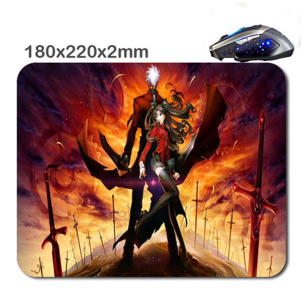 Design Print Custom Animated Cartoon Non-Slip Durable Computer Laptop Gaming Rubber Mouse Pad in 220*180*2 Mm As office Gift