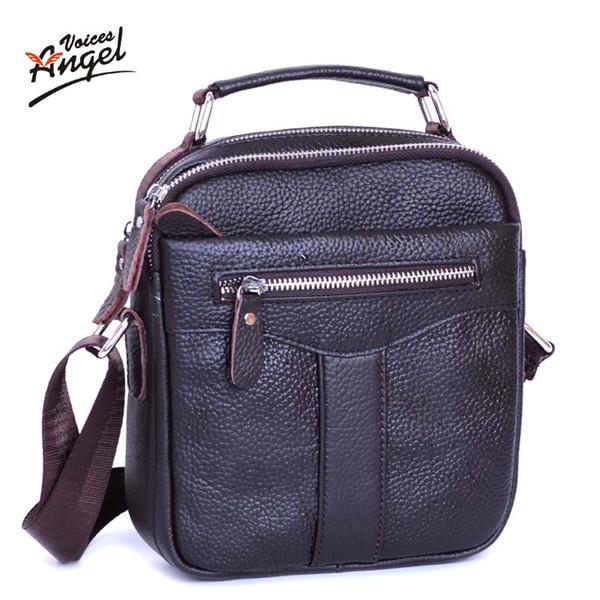 Wholesale- 2016 Fashion New Handbags Men Messenger Bags Men's Vintage Shoulder Crossbody Bag Male travel Genuine Leather Small Bag