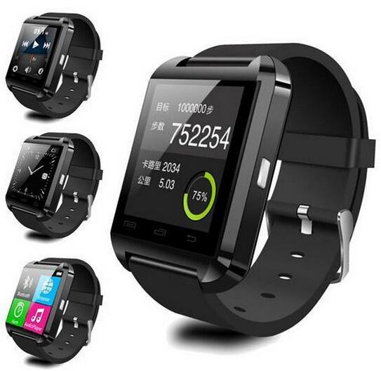 u8 smart watches Bluetooth U8 Smartwatch Wrist Watches With Altimeter For iPhone 6 Samsung S6 Note 5 HTC Android Phone free DHL from kindboy