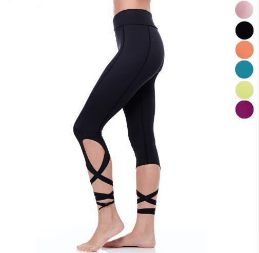 Leggings da affluenza nera Verde Compressione sexy Pantaloni da yoga fitness Capri rosa rossa Ballerine da ballo rosa Slim Skinny Ladies