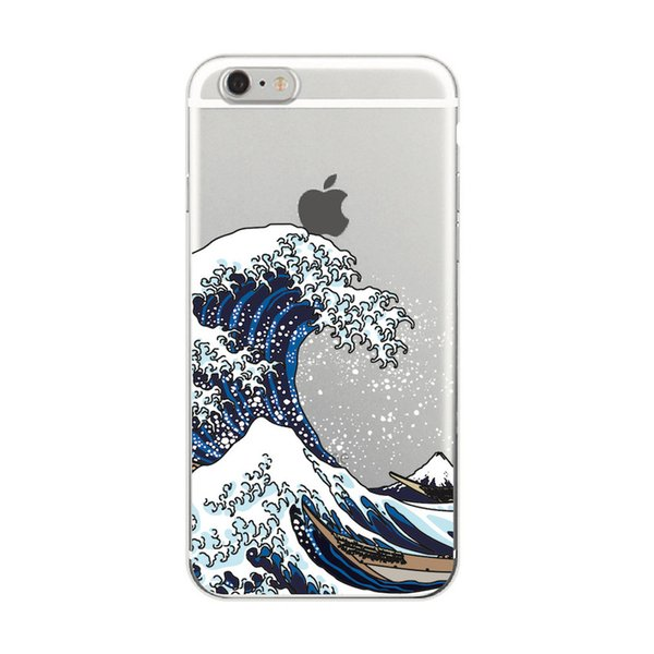 The Great Wave off Kanagawa Soft TPU Phone Case Cover For iPhone 7Plus 7 6 6S 5 5S SE XS Max Samsung Galaxy