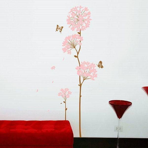Nuevo Diseño Hydrangea pegatinas de pared Decoración extraíble del papel pintado niños del sitio del cabrito lindo caliente - venta Decoración adhesiva engomada grande Niño
