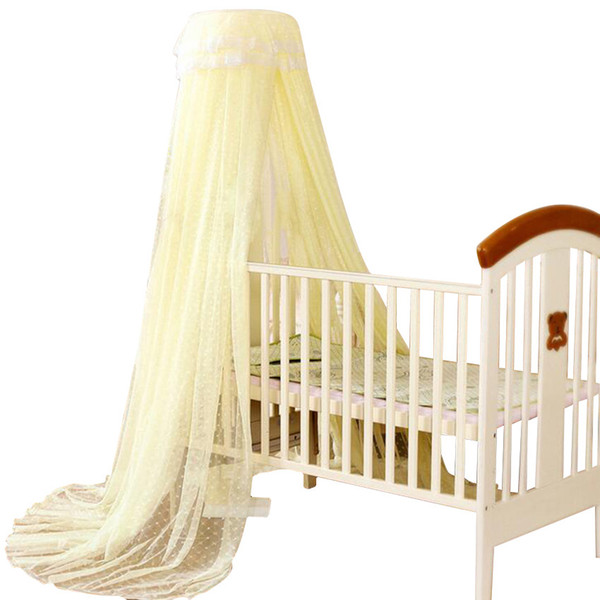Wholesale-2016 Baby Crib Cot Insect Mosquitoes Wasps Flies Net for Infant Bed Folding Crib Netting Child Baby Mosquito Nets 4 Color Choose