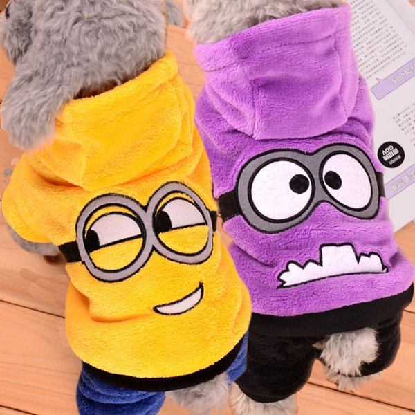 Warm Winter Pet Dog Clothes Fleece Costume Sweater Cute Pets Hoodie Clothes Puppy Coat Outfit Dog Clothing for Small Dogs