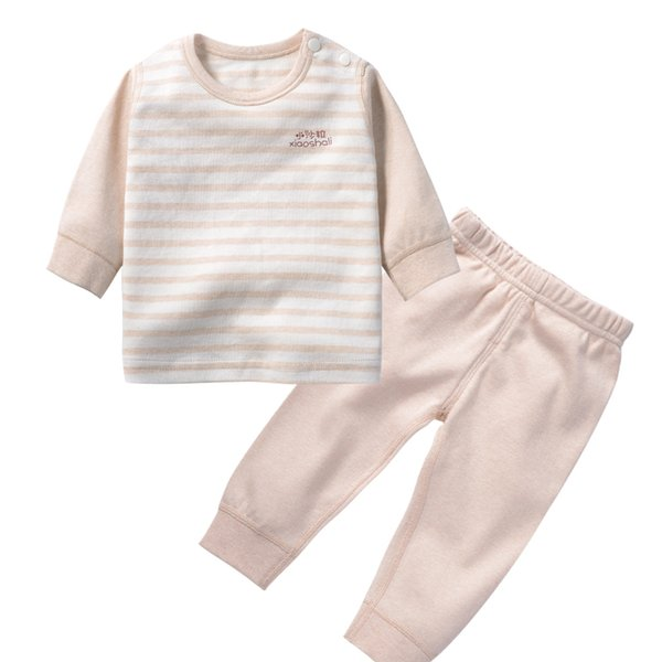 Baby Suit Sets Nature Colored Cotton Long Sleeve Round Neck Sweater