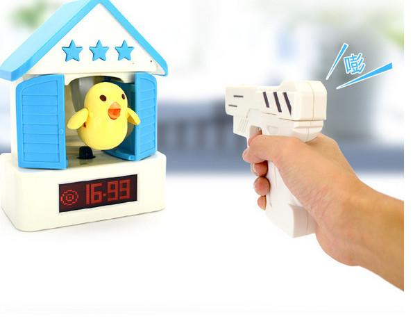 2019 APP Control Small Cuckoo Alarm Clock Lazy Shooting Hit Alarm Clock  Student Children Bedside Cartoon Electronic Alarms Creative Gifts From