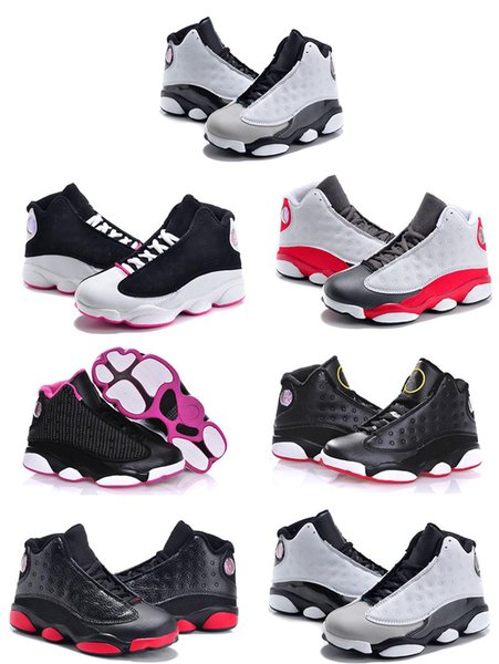 13 Kids Basketball Shoes Youth Children's Athletic 13s Sports Shoes for Boy Girls Shoes Free Shipping size:28-35