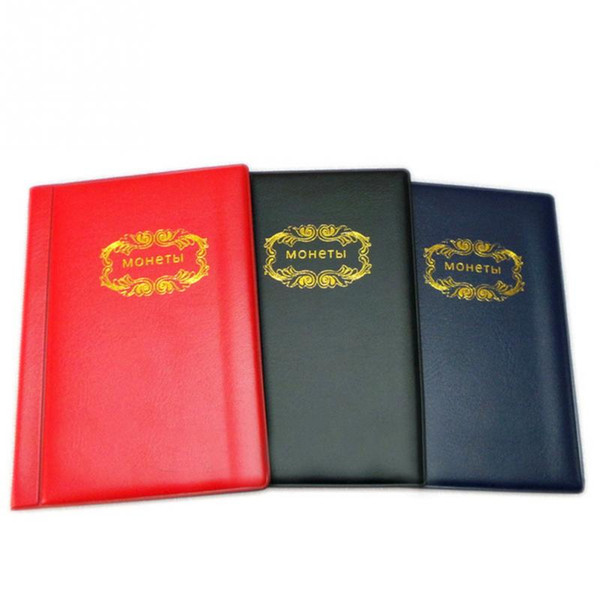 Wholesale- Portable PVC Material 120 Coins Collection Album Money Coin Cases Collection Penny Book Storage Holder