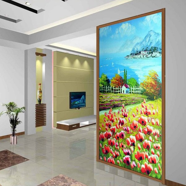 Pastoral Scenery Wall Mural Oil Painting Photo Wallpaper Custom 3D  Wallpaper Bedroom Hallway Office Hotel Door
