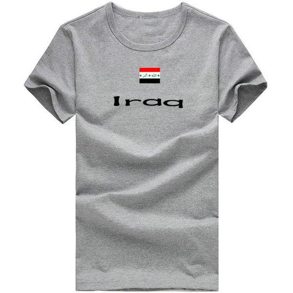 Iraq T shirt Ski sport short sleeve Cheer team individual tees Nation flag clothing Unisex cotton Tshirt