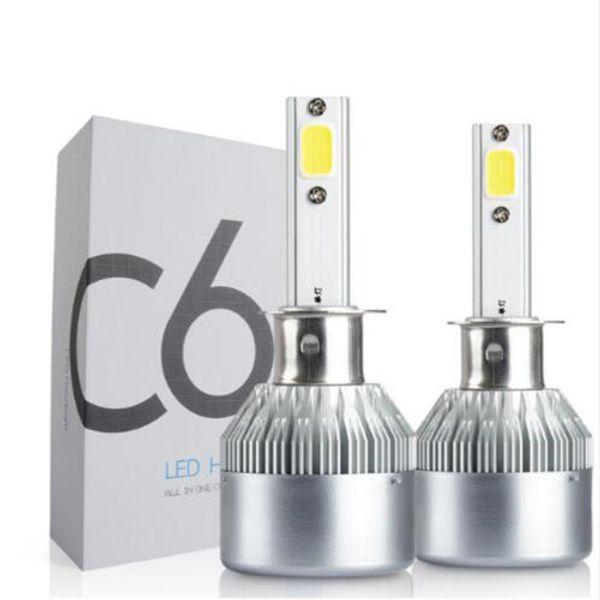 2x автомобиль LED H1 72 Вт C6 комплект фар 7600Lm водонепроницаемый Замена лампы парковка 12 В 24 В DC Бесплатная доставка