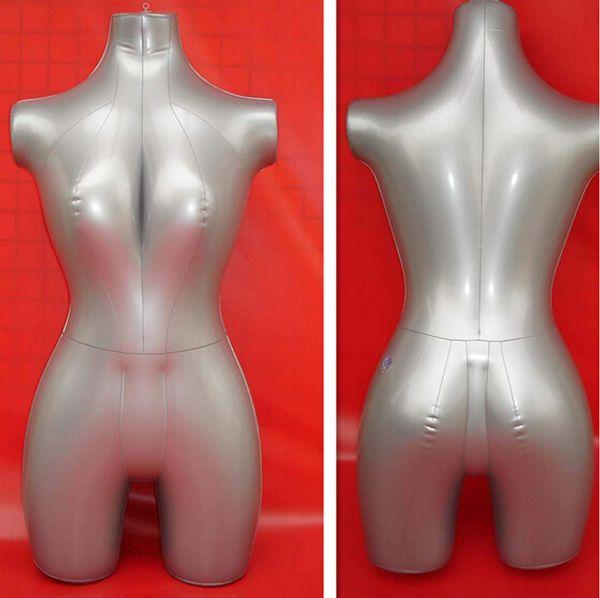 Livraison gratuite! gros passe-temps kreativ, torse gonflable, modèles féminins, présentoir femmes, mannequin gonflable en pvc, haut du corps, M00356