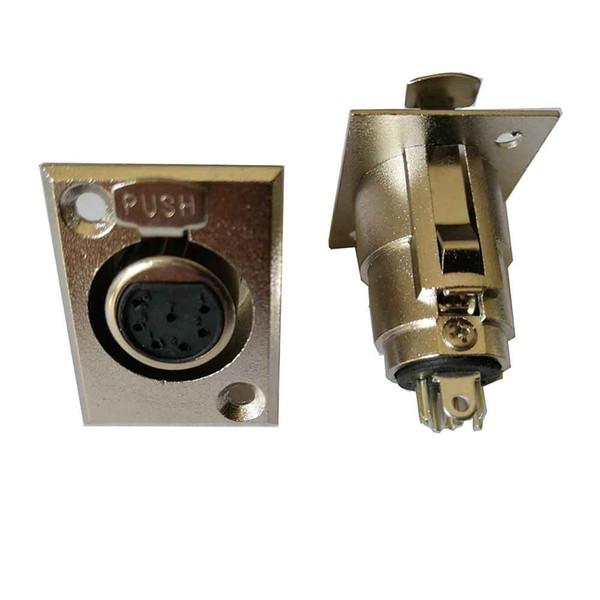 Yüksek kalite 25 ADET / GRUP 7 PIN KADıN XLR Şasi Monte Soket paneli Bağlayıcı DMX interkom kulaklık için