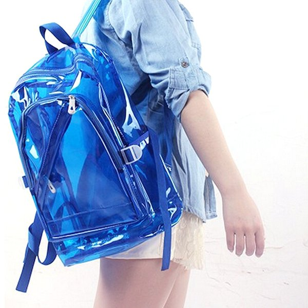 Zaino impermeabile di plastica trasparente all'ingrosso per la borsa delle spalle dei sacchetti di scuola del PVC delle ragazze adolescenti