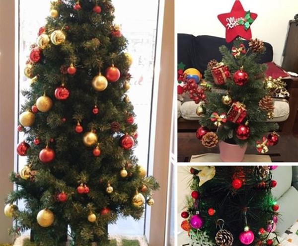 Weihnachtsdekoration Äpfel Weihnachtsbaum hängenden Ornament Home New Year Party-Events Obst Anhänger Red Golden