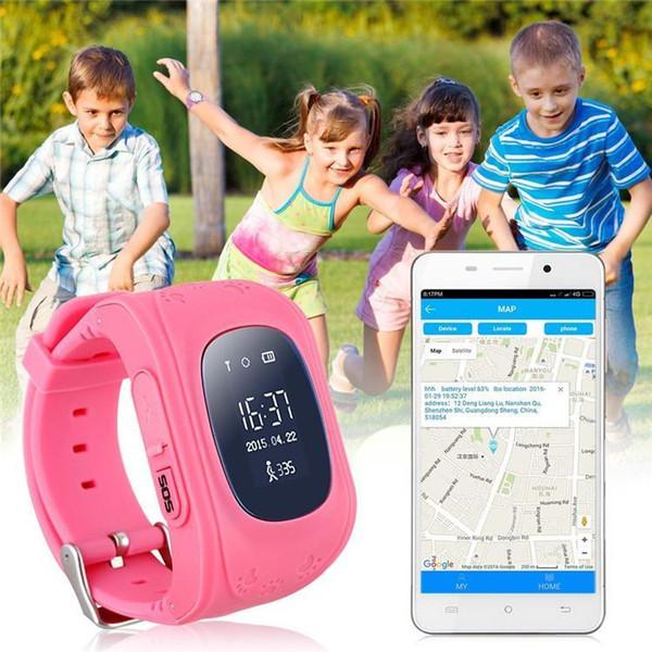 DHL HOT bluetooth Smart watch Children Kid Wristwatch Q50 GSM GPRS GPS Locator Tracker Anti-Lost Smartwatch Child Guard for iOS Android