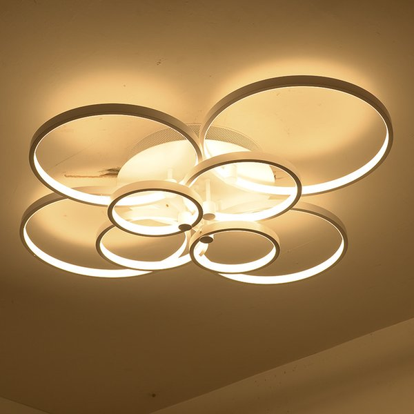 Modern Super-thin Circel Rings LED Ceiling Chandelier Lamp Living Room Bedroom LED Lighting Chandelier Lights fixtures