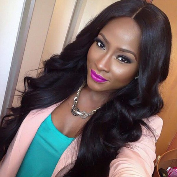 Full Lace Human Hair Wig Wavy Pre-plucked Hairline 360 Lace Wig Body Wave Malaysian Virgin Hair 150% Density Lace Front Wig Glueless