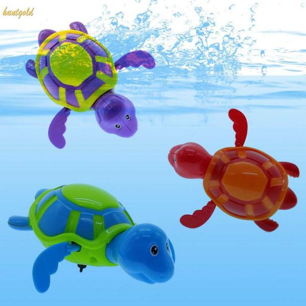 Atacado-1 pc Bebê Crianças Crianças Brinquedo De Banho Turtle Wind-up Baby Toy Para O Banheiro Quente