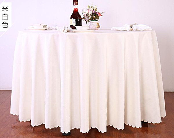 top popular Table cloth Table Cover round for Banquet Wedding Party Decoration Tables Satin Fabric Table Clothing Wedding Tablecloth Home Textile WT045 2020