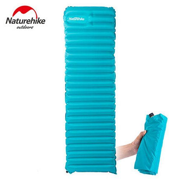 Naturehike Manual Inflatable Hand Press Inflating Dampproof Sleeping Pad Camping Tent Air Mat Mattress Larger Size 193*60*9cm