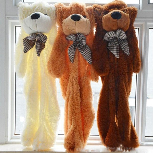 200 CM 5 Colors Giant Teddy Bear Skin Coat Soft Adult Coat Plush Toys Wholesale Price Friends Kids Birthday Christmas Gift