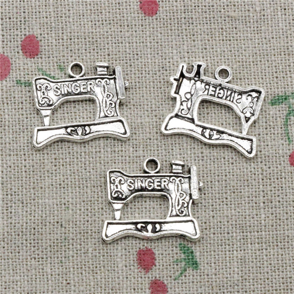 62pcs Charms vintage sewing machine 20*17mm Antique Silver/Bronze Pendant Zinc Alloy Jewelry DIY Hand Made Bracelet Necklace Fitting