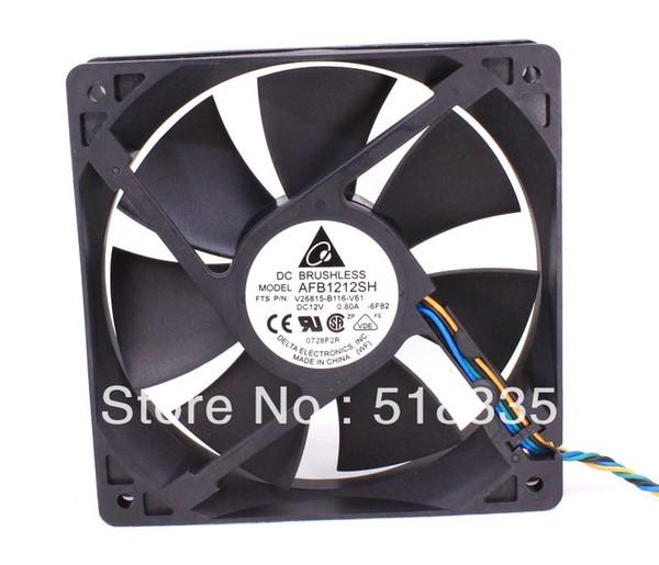 Delta fan AFB1212SH 12CM 120MM 1225 12025 12*12*2.5CM 120*120*25MM 12V 0.80A Cooling Fan Good Quality
