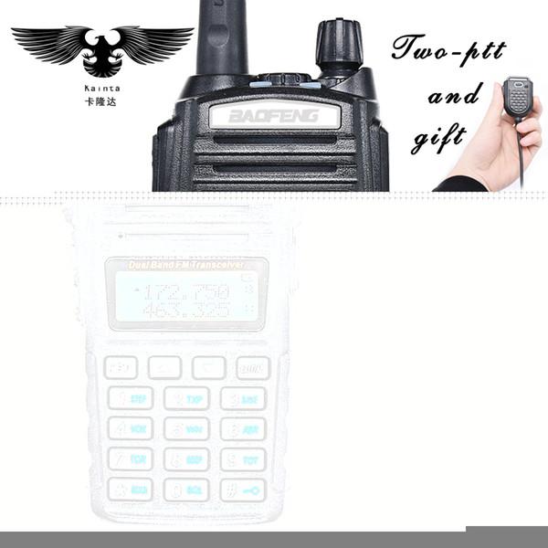 Toptan Satış - BAOFENG UV-82 Walkie Talkie Dual Band VHF UHF Taşınabilir İki Yönlü Telsiz CB Radyo FM Radyo Verici PIN PTT Hoparlör Mic ile