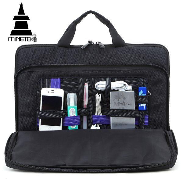 Wholesale- Laptop Bag Case 13 14 inch Business Travel Case Bags Men Women Multifunction Waterproof Nylon Computer Tablet Bag Briefcase