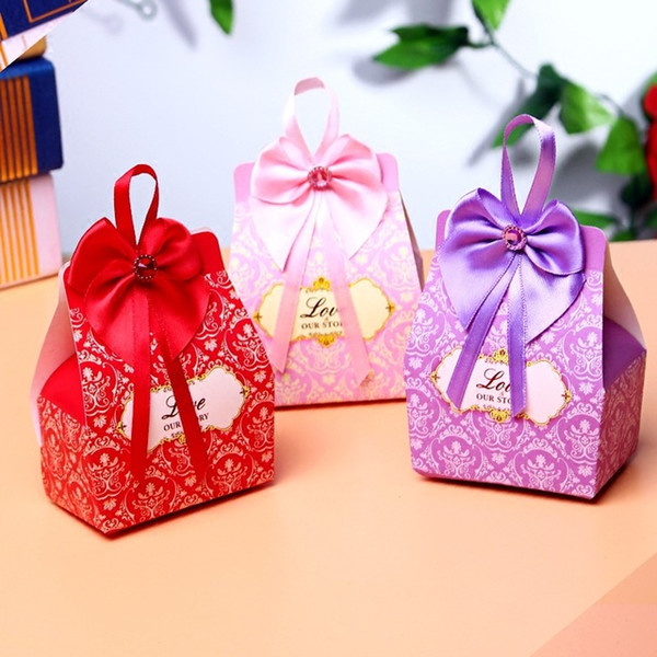 top popular gift boxes favor boxes candy boxes wedding favor gift candy box gift box party with bow 2020