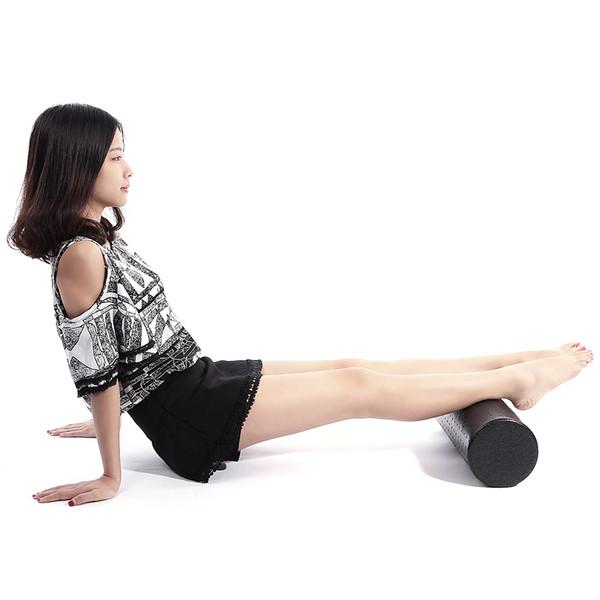 EPP Yoga Gimnasio Ejercicio Fitness Equipo de masaje Bloque de rodillos de espuma Relajación muscular Terapia física Negro 30 cm 45 cm + B