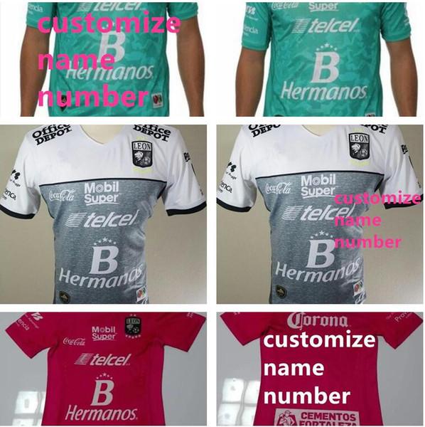 Club Mexicano 16 17 Camisas León 2016 2017 Camiseta De Fútbol Verde ... f4c02fa1c984c
