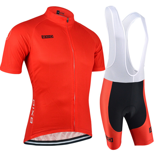 BXIO Brand New Arrival Cycling Jerseys Short Sleeve Red Cycle Jersey Sets Mountain Road Outdoor Sprot Cycling Clothes Ropa Ciclismo BX-088