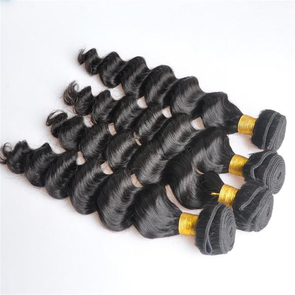 Indisches reines Menschenhaar-lose tiefe Wellen-unverarbeitetes Remy-Haar spinnt die doppelten Einschlagfäden 100g / Bündel 1bundle / lot kann gefärbtes gebleichtes sein