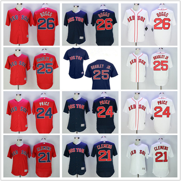 quality design 425f4 25454 2019 2017 Men'S Boston Red Sox Jersey MLB Cheap 21 Roger Clemens 26 Wade  Boggs 24 David Price Navy Gray Red White Flex Base Jersey From Anseer,  $21.93 ...