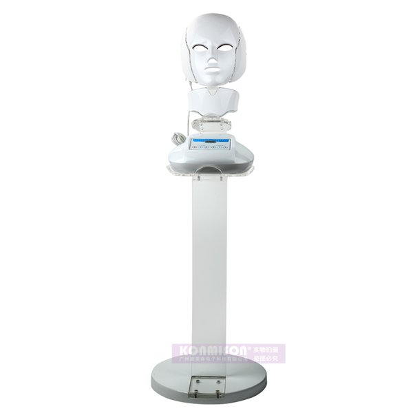 2018 Newest 3 in 1 PDT LED therapy face mask for facial and neck for skin tightenung wrinkie removal beauty machine salon use